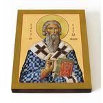 Святитель Савва I, архиепископ Сербский, икона на доске 13*16,5 см - Иконы
