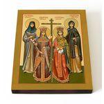 Собор святых Елен, икона на доске 13*16,5 см - Иконы