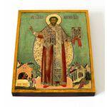 Святитель Тихон, епископ Амафунтский XVII-XVIII в, на доске 13*16,5 см - Иконы