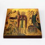 Преподобный Иоанн Отшельник, Палестинский, икона на доске 20*25 см - Иконы