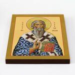 Святитель Савва I, архиепископ Сербский, икона на доске 20*25 см - Иконы