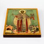 Святитель Тихон, епископ Амафунтский XVII-XVIII в, на доске 20*25 см - Иконы