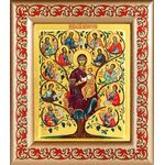 """Икона Божией Матери """"Древо Иессеево"""", рамка с узором 14,5*16,5 см - Иконы"""