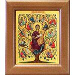 """Икона Божией Матери """"Древо Иессеево"""", широкая рамка 14,5*16,5 см - Иконы"""