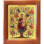 """Икона Божией Матери """"Древо Иессеево"""", рамка 12,5*14,5 см - Иконы"""