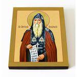 Преподобный Антоний Печерский, икона на доске 8*10 см - Иконы