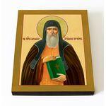 Преподобный Варлаам Печерский, икона на доске 8*10 см - Иконы