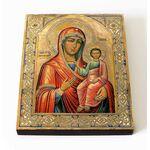 Макарьевская икона Божией Матери, печать на доске 8*10 см - Иконы