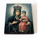 Озерянская икона Божией Матери, печать на доске 8*10 см - Иконы