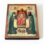 Свенская Печерская икона Божией Матери, печать на доске 8*10 см - Иконы