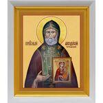Преподобный Феодосий Тотемский, икона в белом киоте 19*22 см - Иконы