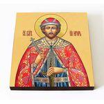 Благоверный князь Игорь Черниговский, икона на доске 14,5*16,5 см - Иконы