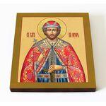 Благоверный князь Игорь Черниговский, печать на доске 14,5*16,5 см - Иконы