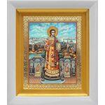 Преподобный Роман Сладкопевец, икона в белом киоте 14*16 см - Иконы