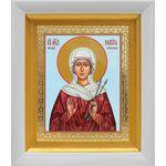 Мученица Виктория Кордувийская, икона в белом киоте 14*16 см - Иконы