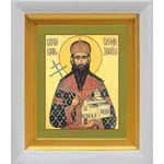 Праведный Стефан Щилянович, Сербский, икона в белом киоте 14*16 см - Иконы