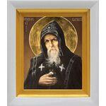 Преподобный Серафим Вырицкий, икона в белом киоте 14*16 см - Иконы