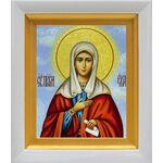 Святая Ева праматерь, жена Адама, икона в белом киоте 14*16 см - Иконы