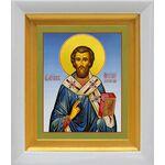 Святитель Арсений, архиепископ Керкирский, белый киот 14*16 см - Иконы