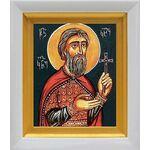 Великомученик Константин Грузинский, князь, в белом киоте 14*16 см - Иконы