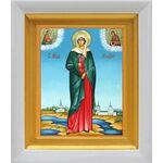 Мученица Ариадна Промисская, Фригийская, икона в белом киоте 14*16 см - Иконы