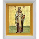 Святитель Мелетий Антиохийский, икона в белом киоте 14*16 см - Иконы