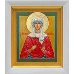 Мученица Ирина Аквилейская, икона в белом киоте 14*16 см - Иконы