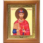 Благоверный князь Александр Невский, широкая рамка 19*22,5 см - Иконы