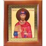 Благоверный князь Александр Невский, деревянная рамка 12,5*14,5 см - Иконы