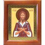 Преподобный Алексий человек Божий, деревянная рамка 12,5*14,5 см - Иконы