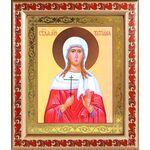 Мученица Татиана Римская, икона в широкой рамке с узором 19*22,5 см - Иконы