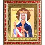 Равноапостольная царица Елена, в рамке с узором 19*22,5 см - Иконы