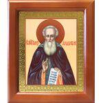 Преподобный Александр Свирский, икона в деревянной рамке 12,5*14,5 см - Иконы