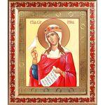 Великомученица Ирина Македонская, икона в рамке с узором 19*22,5 см - Иконы