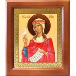 Великомученица Ирина Македонская, деревянная рамка 12,5*14,5 см - Иконы