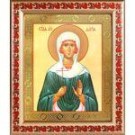 Мученица Дария Римская, икона в деревянной рамке с узором 19*22,5 см - Иконы