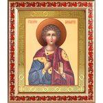 Мученик Вонифатий Тарсийский, икона в рамке с узором 19*22,5 см - Иконы