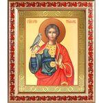 Мученик Трифон Апамейский, икона в широкой рамке с узором 19*22,5 см - Иконы