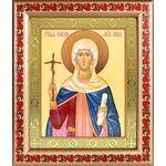 Равноапостольная Нина просветительница Грузии, рамка узором 19*22,5 см - Иконы