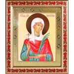 Мученица Алевтина Кесарийская, икона в рамке с узором 19*22,5 см - Иконы