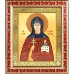 Преподобная Евфросиния Полоцкая, икона в рамке с узором 19*22,5 см - Иконы