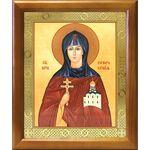 Преподобная Евфросиния Полоцкая, икона в деревянной рамке 17,5*20,5 см - Иконы