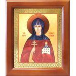 Преподобная Евфросиния Полоцкая, икона в деревянной рамке 12,5*14,5 см - Иконы