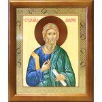 Апостол Андрей Первозванный, икона в деревянной рамке 17,5*20,5 см - Иконы