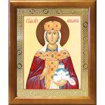 Мученица Людмила Чешская, икона в деревянной рамке 17,5*20,5 см - Иконы