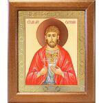 Мученик Евгений Севастийский, икона в широкой рамке 19*22,5 см - Иконы