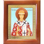Святитель Никита Новгородский, икона в деревянной рамке 12,5*14,5 см - Иконы