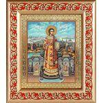 Преподобный Роман Сладкопевец, икона в рамке с узором 14,5*16,5 см - Иконы