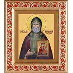 Преподобный Феодосий Тотемский, икона в рамке с узором 14,5*16,5 см - Иконы