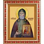 Преподобный Феодосий Тотемский, икона в рамке с узором 19*22,5 см - Иконы